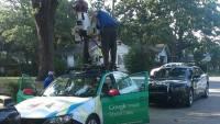 Google 街景車走錯路,意外造成交通事故