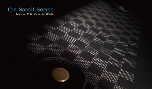 iPad2-卷軸式對開皮套-米駝色
