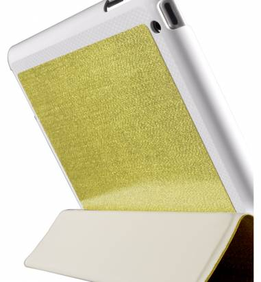 iPad2-璀璨金蔥對開保護套-閃耀金