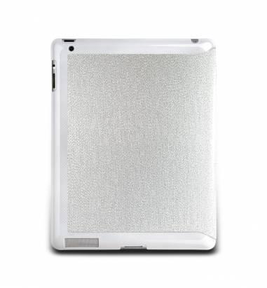 iPad2-璀璨金蔥對開保護套-閃耀銀