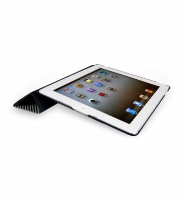 iPad2-Corium Series-玻纖對開保護套-深灰色