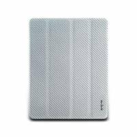 iPad2-Corium Series-玻纖對開保護套-亮銀色