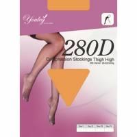 280 Den 彈性大腿襪 - 膚色 二雙入