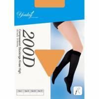 200 Den 彈性小腿襪 - 膚色 四雙入