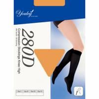 280 Den 彈性小腿襪 - 膚色 四雙入