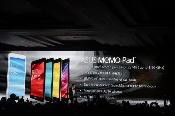 華碩Fonepad 8、MeMO Pad 7以及MeMO Pad 8也隨之登場