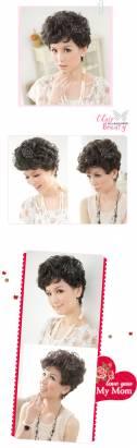 【LW105】氣質媽媽貴氣小短捲髮型
