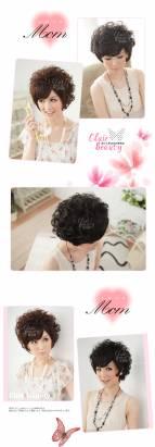 【LWA093A】貴婦最愛直流海鬢角微長捲短髮