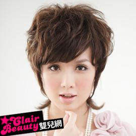 【LW32009HH】修臉鬢角加長微捲自然款短捲髮  預購