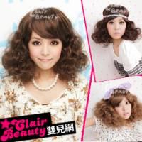 【LWG6052】女星韓孝珠斜分蓬鬆小捲短髮