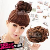 【LWDH53】增量型捲捲丸子頭髮束