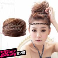 【AMT002】耐熱纖維-丸子包頭立體抽繩髮包-直髮款