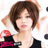 【MB031】俏皮Rocker隨性街頭風斜劉海短髮