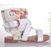 魔法Baby ~KUKI 酷奇氣質玫瑰小碎花甜美系童鞋~女童鞋~時尚設計童鞋~s4891