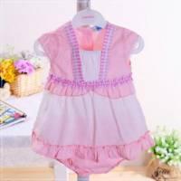 魔法Baby ~KUKI小公主套裝粉系 小洋裝+褲子 ~童裝~女童裝~時尚設計童裝~k22100