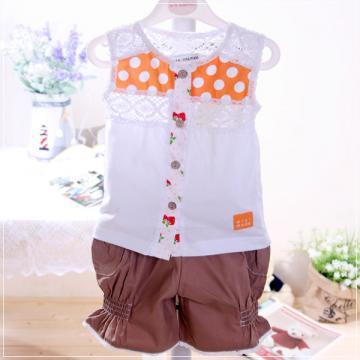魔法Baby ~無袖蕾絲上衣&短褲~童裝~女童裝~時尚設計童裝~k03263