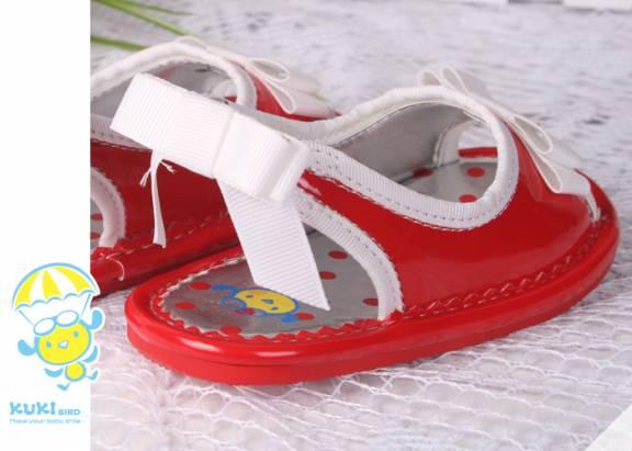 【換季↘69折】★ 魔法Baby ★【KUKI 酷奇清新甜美小童涼鞋☆女童鞋☆s2439紅~時尚設計童鞋