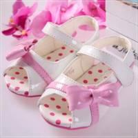魔法Baby ~KUKI 酷奇質感蝴蝶結線條甜美系童鞋 粉白 ~女童鞋~時尚設計童鞋~s5799