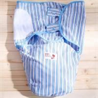魔法Baby ~日本大暢銷三角造型包巾 藍條紋 ~嬰兒用品~時尚設計童裝~k22728