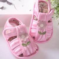 魔法Baby ~KUKI 酷奇立體小花配綠葉童鞋 粉 ~女童鞋~時尚設計童鞋~s5621