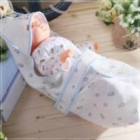 魔法Baby~百貨專櫃正品嬰兒四方抱毯 水藍 ~嬰兒用品~k22742