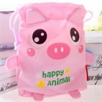 魔法Baby~超Q束口小物包 粉紅豬 ~嬰幼兒用品~時尚設計~c0059
