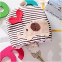 魔法Baby~日本風手工拼布鑰匙 零錢包 小象 ~孩童 大人用品~時尚設計~f0054