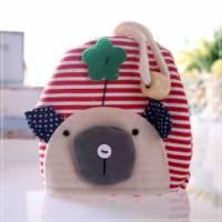 魔法Baby~日本風手工拼布鑰匙 零錢包 條紋小狗 ~孩童 大人用品~時尚設計~f0056
