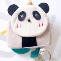 魔法Baby~日本風手工拼布鑰匙 小熊貓 ~孩童 大人用品~時尚設計~f0067