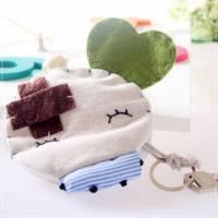 魔法Baby~日本風手工拼布鑰匙包 小豆 ~孩童 大人用品~時尚設計~f0068
