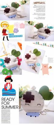 魔法Baby~日本風手工拼布鑰匙包(小豆)~孩童&大人用品~時尚設計~f0068