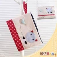 魔法Baby~裝小筆電 ipad 平版電腦貓咪拼布包 卡其 紅白圓點 ~生活用品~時尚設計~f0084