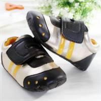 魔法Baby ~KUKI 酷奇流線橫條休閒系童鞋 黑 金 ~男童鞋~時尚設計童鞋~sh0545