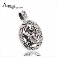 《ARGENT銀飾》動物造型潮流系列「魚躍龍門」純銀項鍊 染黑款