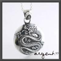 《ARGENT銀飾》動物造型系列『龍銀 染黑款 』純銀項鍊 單條價 純銀無電鍍