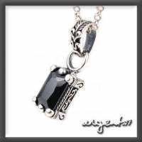 ARGENT 美鑽系列 愛心圖騰 黑鑽 純銀項鍊