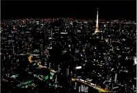 美麗的錯誤 用彩色貼紙製造的迷人夜景