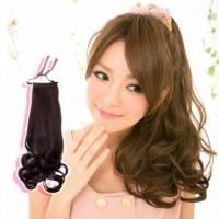 【7956L】森林系浪漫梨花捲綁式馬尾髮片