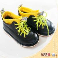 魔法Baby~【KUKI酷奇】帥氣系個性潮款紳士中短筒鞋~男童鞋~時尚設計童鞋~sh0286