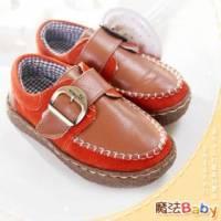 魔法Baby~【KUKI酷奇】質感系全雙真皮素面休閒皮鞋~男女童鞋~時尚設計童鞋~sh0996