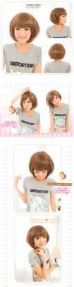 【LW201AE】可愛爆表!小碎齊瀏海髮BOBO短髮