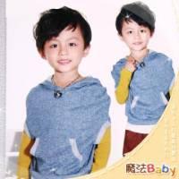魔法Baby ~韓版連帽袋鼠口袋款上衣~童裝~小潮男女童裝~時尚設計童裝~k24203