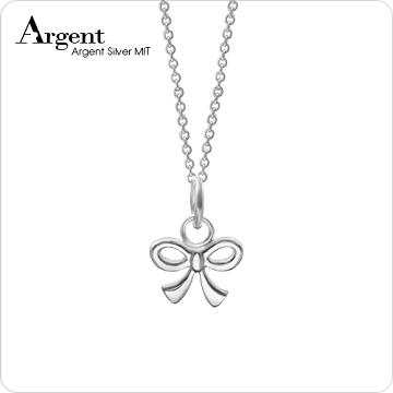 ARGENT 迷你系列 小蝴蝶結 純銀項鍊
