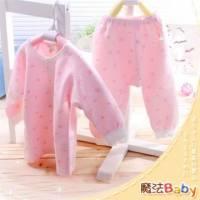 魔法Baby~【KUKI】台灣製造包紗布前開衫套裝~套裝~女童裝~時尚設計童裝~k00507_p