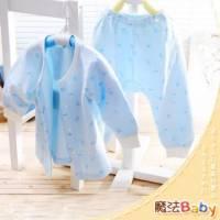 魔法Baby~【KUKI】台灣製造包紗布前全開套裝~套裝~男童裝~時尚設計童裝~k00521_b