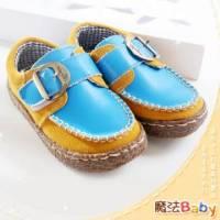魔法Baby~【KUKI酷奇】質感系全雙真皮素面休閒皮鞋~男女童鞋~時尚設計童鞋~sh1061