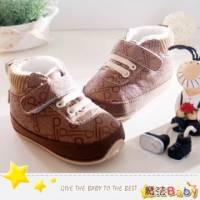 魔法Baby~【KUKI酷奇】質感系PB英文字母內裡軟毛寶寶鞋 學步鞋 咖啡 ~男童鞋~sh1115