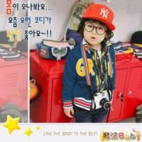 魔法Baby ~韓版Great運動休閒外套 藍 ~童裝~男童裝~時尚設計童裝~k24630