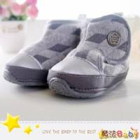 魔法Baby~【KUKI酷奇】格紋幾何菱雪靴寶寶鞋 學步鞋 灰 ~男童鞋~時尚設計童鞋~sh1221