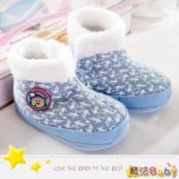 魔法Baby~【KUKI酷奇】聖誕小熊俏雪靴寶寶鞋 學步鞋 水藍 ~時尚設計童鞋~sh1252